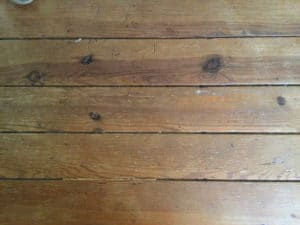 The starting worn floor