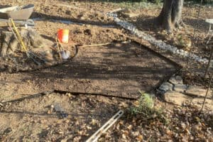 Building a oyster shell path. An easy DYI project