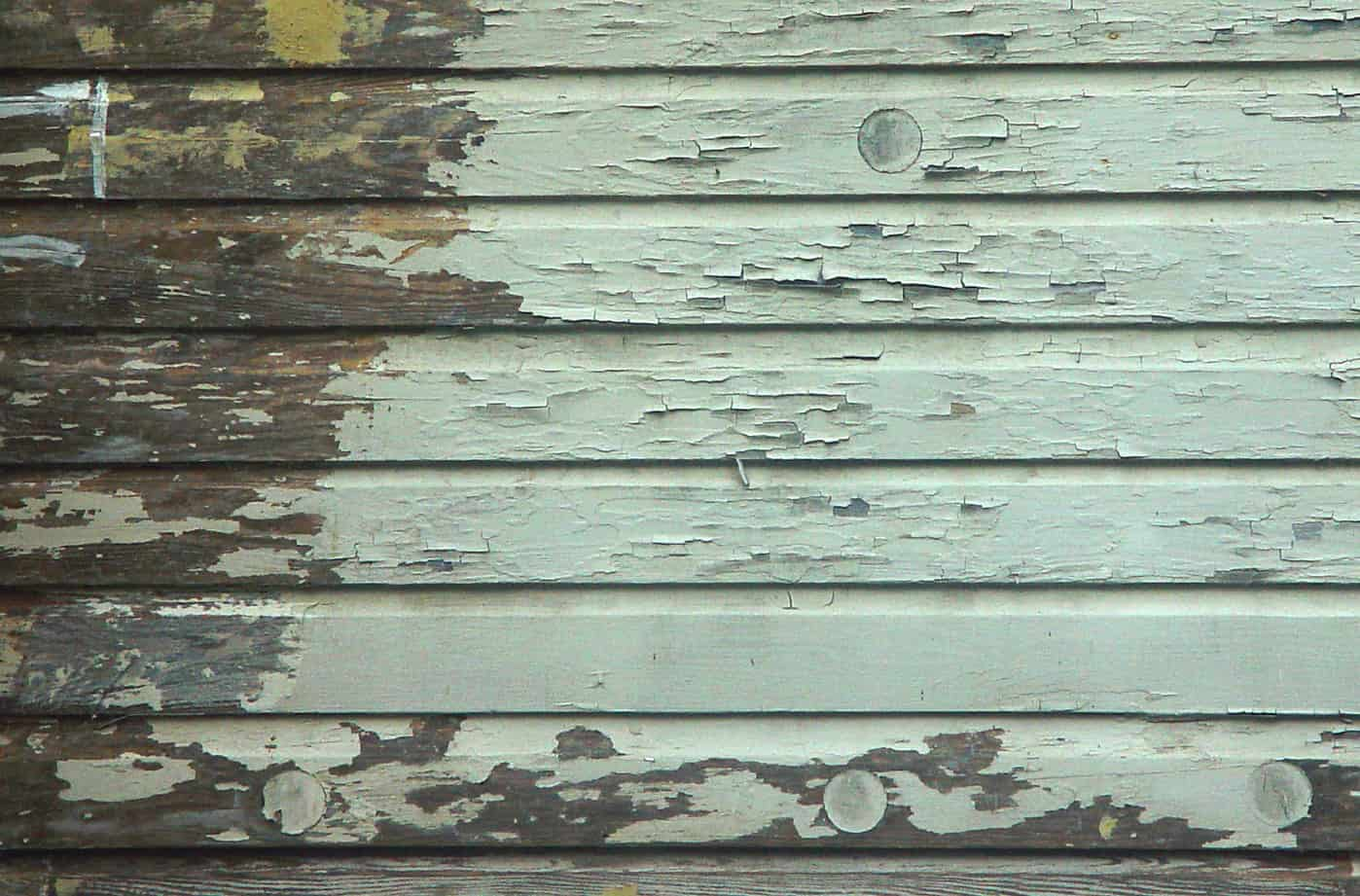 Peeling Paint From Moisture Coming Through The Wooden