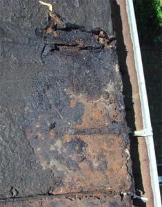 Roof rusted through on an old house. DYI how to repair.