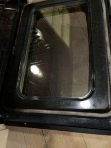 Cleaned oven door